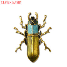 Фотография XIAONIANSHI New Fashion Insect Brooch Bohemia Style Environmental Protection Alloy Needle Accessories Men Steampunk Pin jewelry