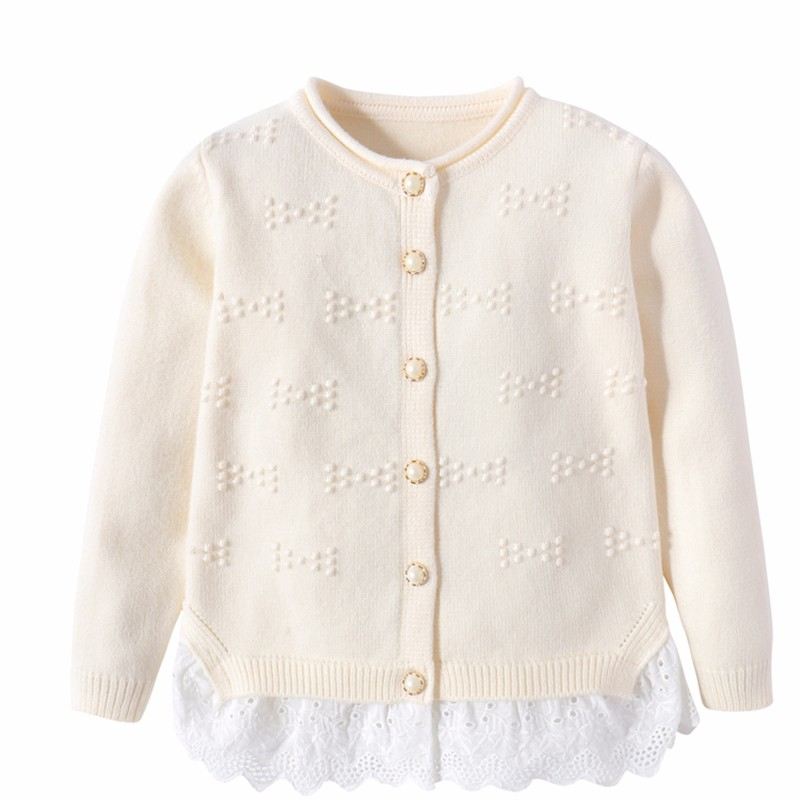 Cotton Girls Sweaters Solid Top With Button Long Sleeve Children Clothes Warm Girl Toddler Cardigan Autumn Winter Kids Sweater (7)
