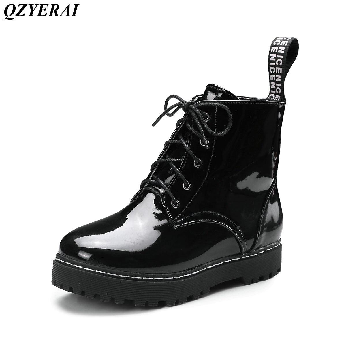 QZYERAI Autumn and winter low heel belt classic vintage Martin boots font b women s b