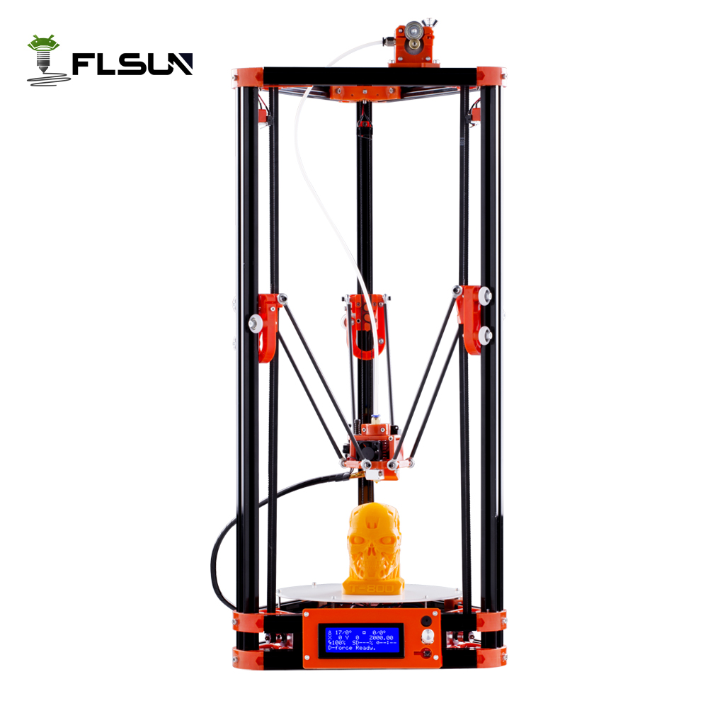 Ship from Russian Warehouse Pulley Version Delta Kossel 3d Printer Kits With Heated Bed Switch Power