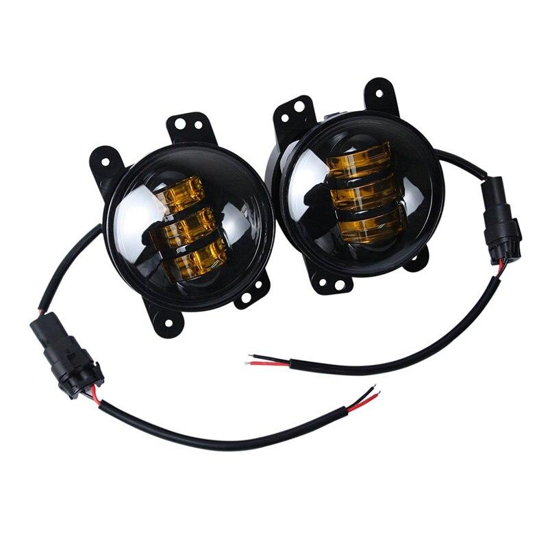 FADUIES 1 pair 4 Inch 30 W Putaran kuning cahaya Led depan Fog lamp - Lampu mobil - Foto 4