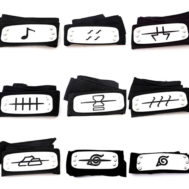 1 Pcs Cool Cosplay Fashionable Anime Konoha Deidara Leaf Naruto Headband Set font b Action b