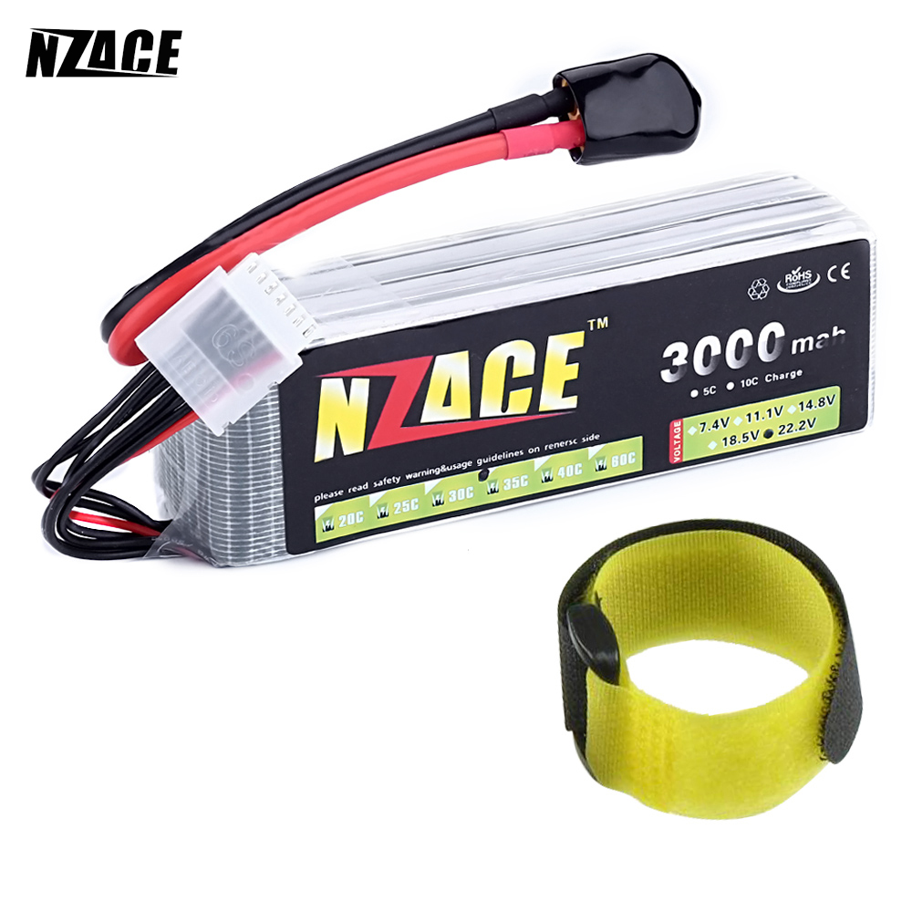 NZACE 6S lipo battery 22.2v 3000mAh 35C rc helicopter rc car rc boat quadcopter remote control toys Li-Polymer battey mos 6s lipo battery 22 2v 1300mah 35c for rc helicopter rc car rc boat quadcopter li polymer battey free shipping