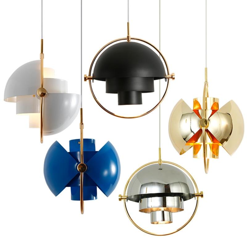 Modern Pendant Lamp LED Metal Chandelier Multi GUBI Hanging Lamp For Kitchen Living Room Light Fixture Home Lighting