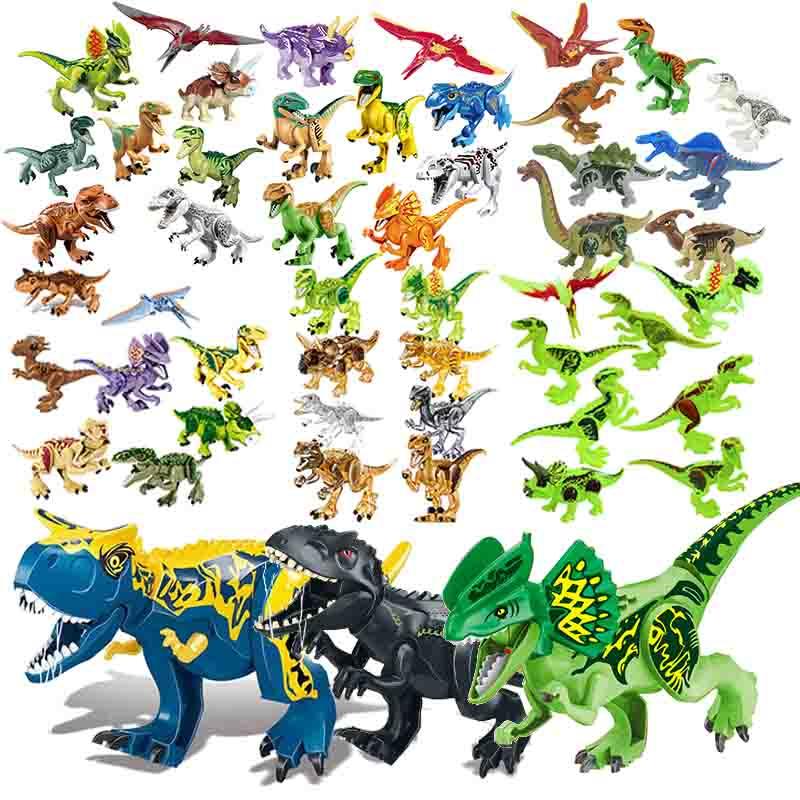 BuildingBlock Toy Set Figure Indoraptor Velociraptor Jurassic Dinosaur Triceratop Indomirus T-Rex World Compatible With