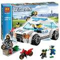128 unids city police persecución policial nuevo 10417 bloques de construcción de figuras de acción de alta velocidad modelo niños niños juguetes compatible con lego