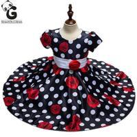 Flower Girl Dresses High Quality Brand Princess Dresses For Girls Party Wedding Performance Dress Polka Dot