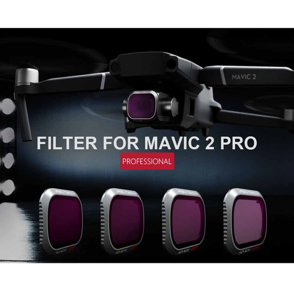 Nouveauté PGYTECH 4 pièces ND/PL Caméra Lentille Filtres Ensemble pour DJI MAVIC 2 PRO-ND8/PL ND16/PL ND32/PL ND64/PL Filtre