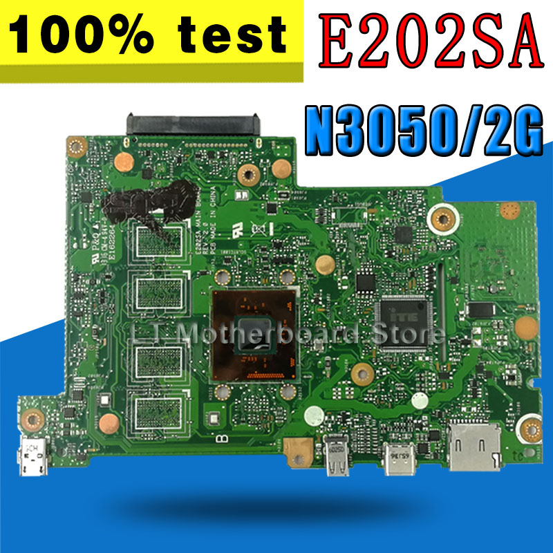 E202SA motherboard For ASUS E202SA E202S laptop motherboard E202SA mainboard 2GB RAM N3050 CPU motherboard test 100% ok