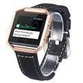 V-MORO Cuero Genuino Correa de Reloj Para Fitbit Banda de Incendio + Estructura de Metal Wrist Band Pulsera para Fitbit Reemplazo Incendio