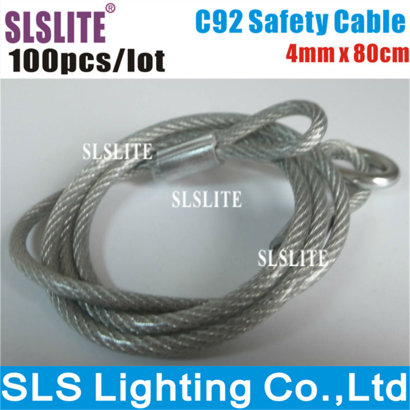 100PCS/LOT Truss CLAMP, Safety Clamp Lighting Cable Wires Stage Light Safety Rope Cable for Stage Light Security Accessories