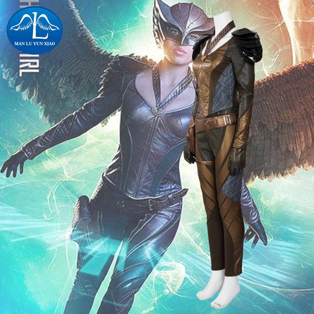 MANLUYUNXIAO New The Flash Hawkgirl Costume Women Halloween Carnival Cosplay Costume For Women Custom Made Wholesale Dropship