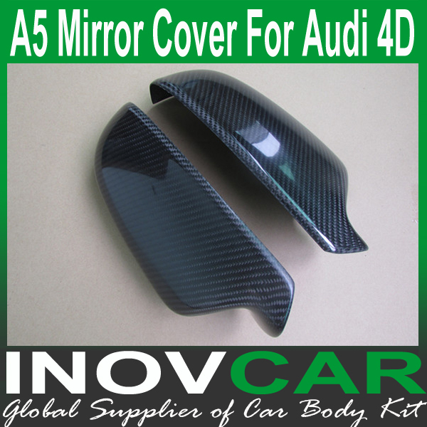 A Carbon Fiber Wing Mirror Cover CF Best Car Cover For AUDI A - Audi a5 car cover