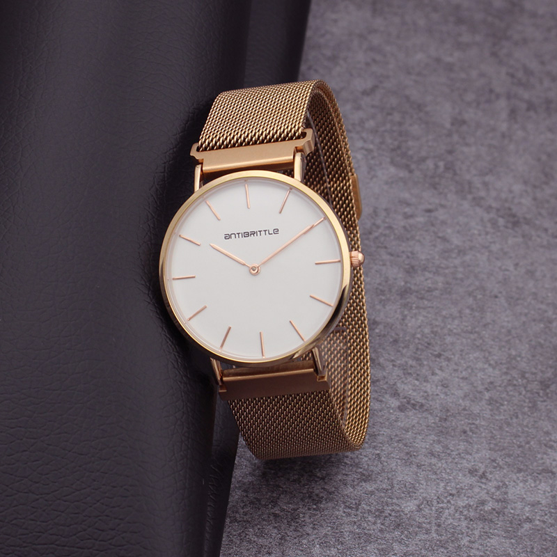 Relogio homem Luxury Simple Watches men magnet Ultra-thin Mesh Stainless Steel Band gold Wrist Watch Women Quartz Watch clock mance women men unisex watches gold stainless steel quartz wrist watch skull pirate quality relogio time clock 2016 hot sale