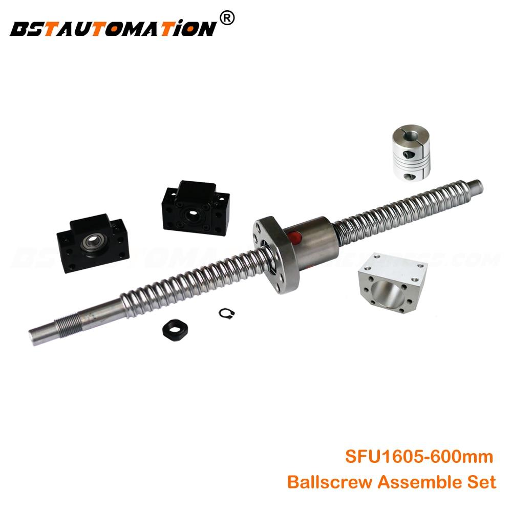 6.35*10mm Couplers for CNC BK//BF12 New Ball Screw Ballscrew RM1605-400mm