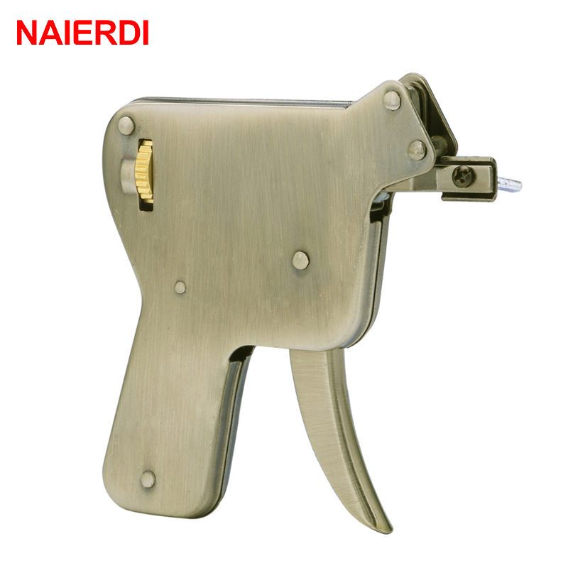 NAIERDI Locksmith Tools Practice Padlock Hand Tool Broken Key Remove Auto Extractor Set Manual Lock Pick Gun Set Hardware iPhone 8