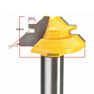 Image 4 - Peu de défonceuse à tige, 8mm, 1/4, Anti rebondissement, 45 degrés, 1/2 pouce, fraise à tige pour outils de menuiserie couteau à bois 1 pièce