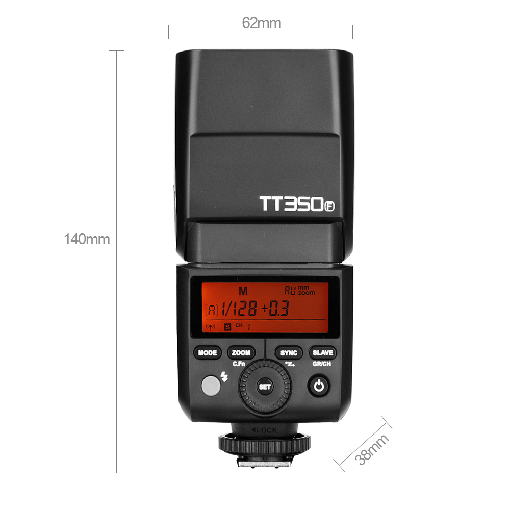 Godox Mini Speedlite TT350F for Fujifilm Camera Flash TTL HSS GN36 High Speed 1/8000S 2. ...