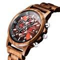 Деревянные часы модные повседневные мужские роскошные Хронограф Спортивные военные часы деревянные стильные relogio masculino подарок для мужчин