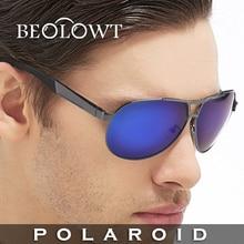 BEOLOWT Модного бренда Солнцезащитные Очки Polaroid мужчины Поляризованные Вождения Алюминиевый Магниевого Сплава Солнцезащитные Очки для мужчин BL308