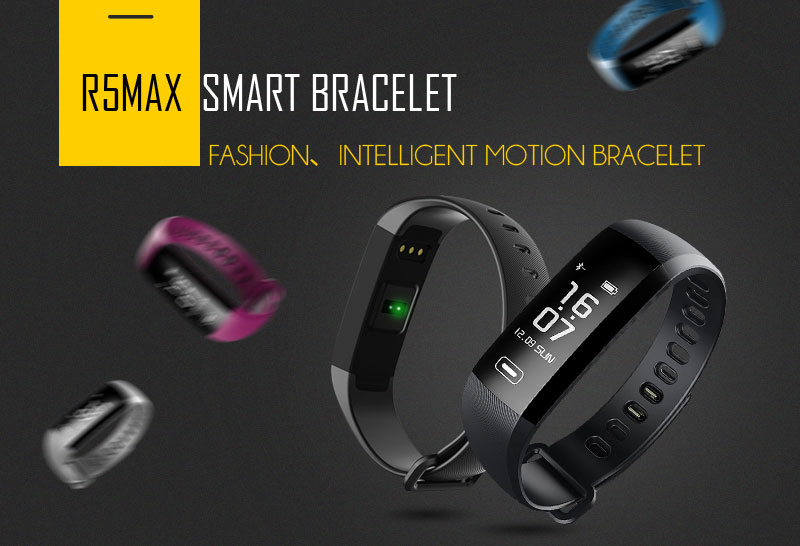 Original R5MAX Smart Fitness Bracelet Intelligent 50 Words Push Message Blood Pressure Oxygen Heart Rate Monitor Wristbands for tezer R5MAX (1)