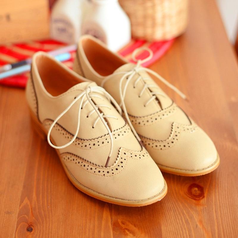 купить Women Classic Modern Sweet Low Heel Lace Up Carving Wingtip PU Black Brogue Oxfords Dress Shoes 8.5 B (M) US big size недорого