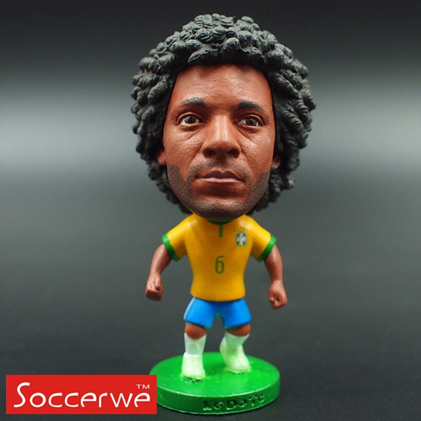 Football star Soccer Player Star 6# MARCELO (BRA-2014) 2.5 Toy Doll Figure