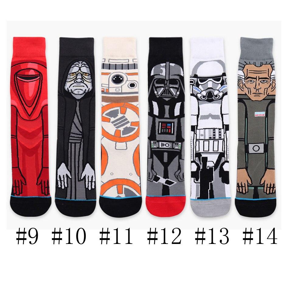 Funny Stockings Cartoon Cotton Print Socks Adult Men Women Jedi Order Master Yoda Cosplay Tide Long Star War Socks Happy Winter