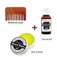 Men Beard Grooming Set Moustache Balm Wax Beard Oil Pocket Size Beard Comb Suitable For All