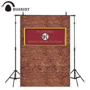Allenjoy фотографические фоны Фотофон кирпичная стена Волшебная школа 9 и 3/4 kings cross station платформа детский фон