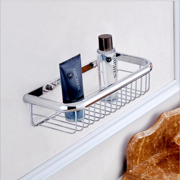 New Arrivals Chrome 30 cm length square Soap Holder bathroom shelves bathroom shampoo holder bathroom basket holder