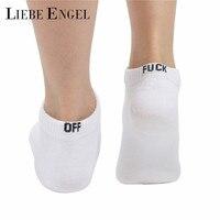 LIEBE ENGEL 2017 Punk Socks Women Comfortble Cotton Socks Summer Autumn White Black Ankle Socks Short