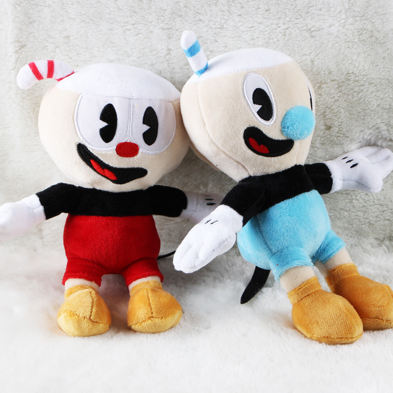 Cuphead Plush Video Game Mugman Boss the Devil Legendary Chalice Soft Stuffed Plush Dolls Toys For Kids Birthday Christmas Gifts
