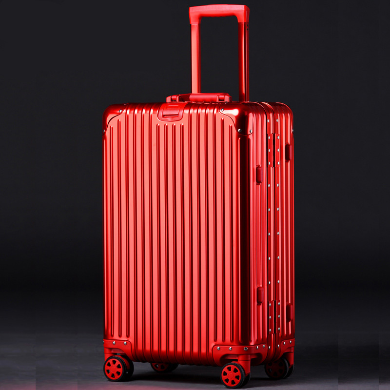 100% Aluminum Alloy Travel Suitcase 20/24/26/29 inch Metal Luggage Fashionable New Type Of Suitcase Rolling Luggage Pull Rod Box vintage suitcase 20 26 pu leather travel suitcase scratch resistant rolling luggage bags suitcase with tsa lock