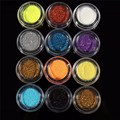12 Colors/Set Glitter Powder Eyeshadow Cosmetic Loose Most Glamorous Pigment Shimmer Shade Metallic Random Color