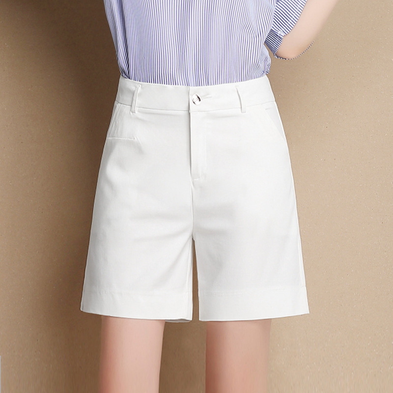 White Shorts En Modal Linen Women Clothes 2019 Summer Rave Mini Fem Me Plus Size  Casual High Waist Modal Linen Quarter