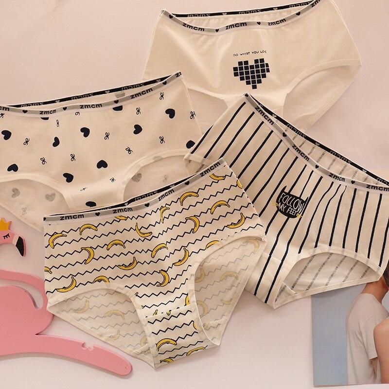 Women Cute Underwear Fruits Cartoon Panties Underpants Knickers Lingerie Cotton