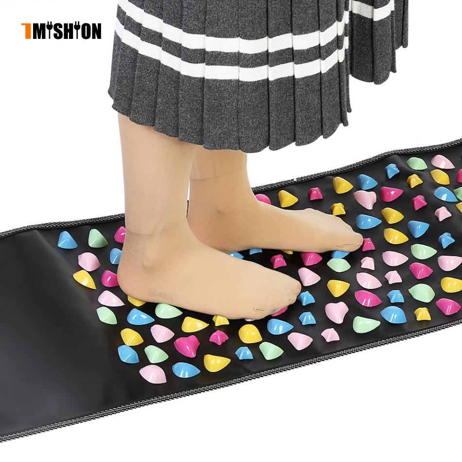 Foot Massage Reflexology Stone Foot Acupoints Massage Mat Pain Relief Feet Walk Massager Health Care aptoco chinese reflexology walk stone pain relieve foot leg massager mat health care acupressure