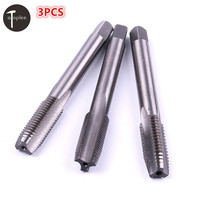 Atoplee 3PCS M18 HSS Right Hand Thread Tap Metric Tapper Plug Tool 1.5mm,1.75mm,2.5mm, Pitch 14mm Shank Hand Tools