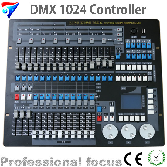 Free Shipping 1024 DMX Controller KingKong lighting Console Dj Computer Light Flycase Pack For Stage Light Moving Head LED Light dhl free shipping sunlite suite1024 dmx controller 1024 ch easy show lighting effect stage equipment dmx color changing tool