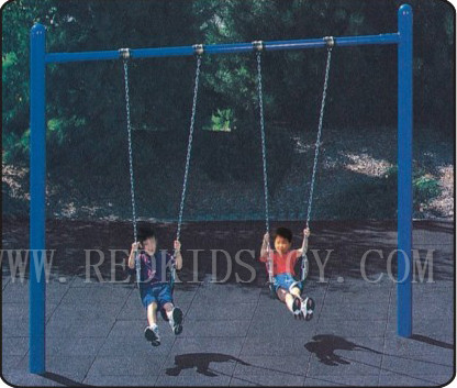 Eu Standard Children Outdoor Swing With Two Rubber Seats Heavy Duty
