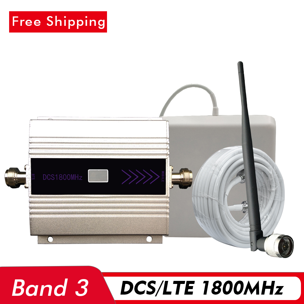 60dB LCD Display 2G 4G Signal Booster DCS LTE 1800mhz (LTE Band 3) Mobile Signal Repeater 4G Network Cell Phone Signal Amplifier