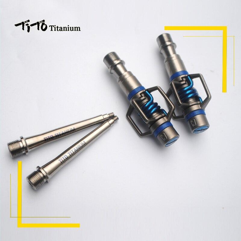 TiTo batteur à oeufs titane alliage axe VTT/vélo de Route pédales lumière poids et durable vélo vélo titane pédales partie axe