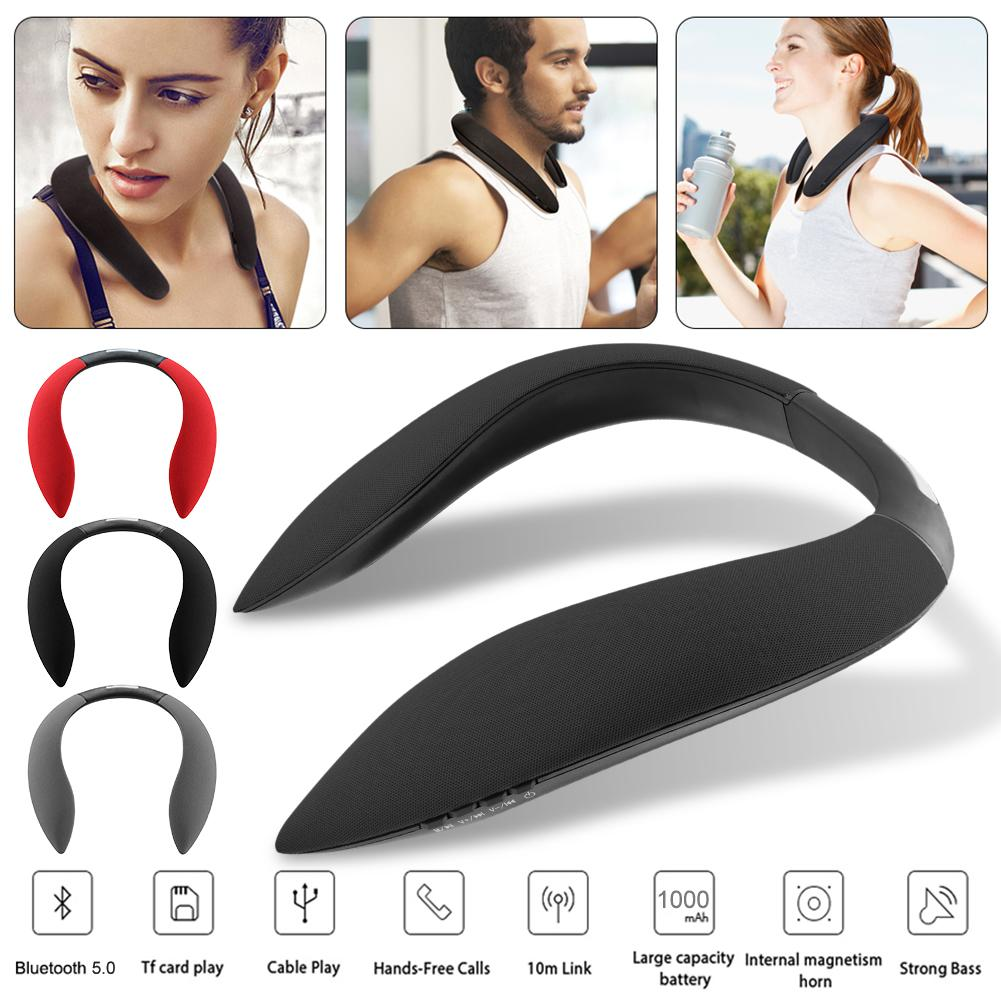 Hanging Neck Style Bluetooth Speaker Multi function Radio Sports Audio Device Support Micro SD TF Card in Bluetooth Earphones Headphones from Consumer Electronics