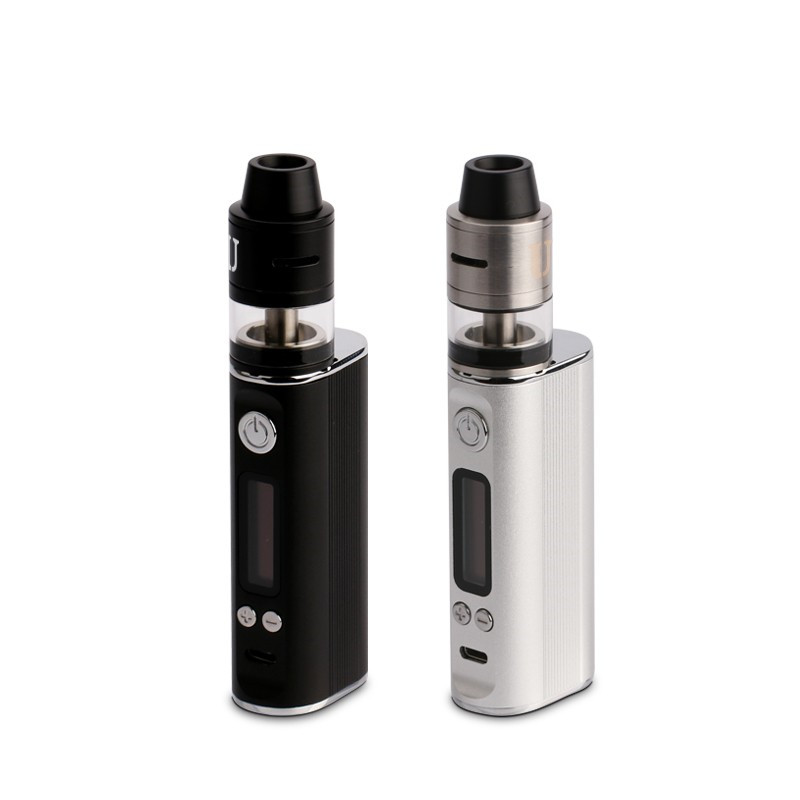 100% authentique Ultra 80 W VTC Vape Mod 2600 mAh batterie mod T.C Kit Cigarette électronique Kit avec Ultra RDTA noir et argent