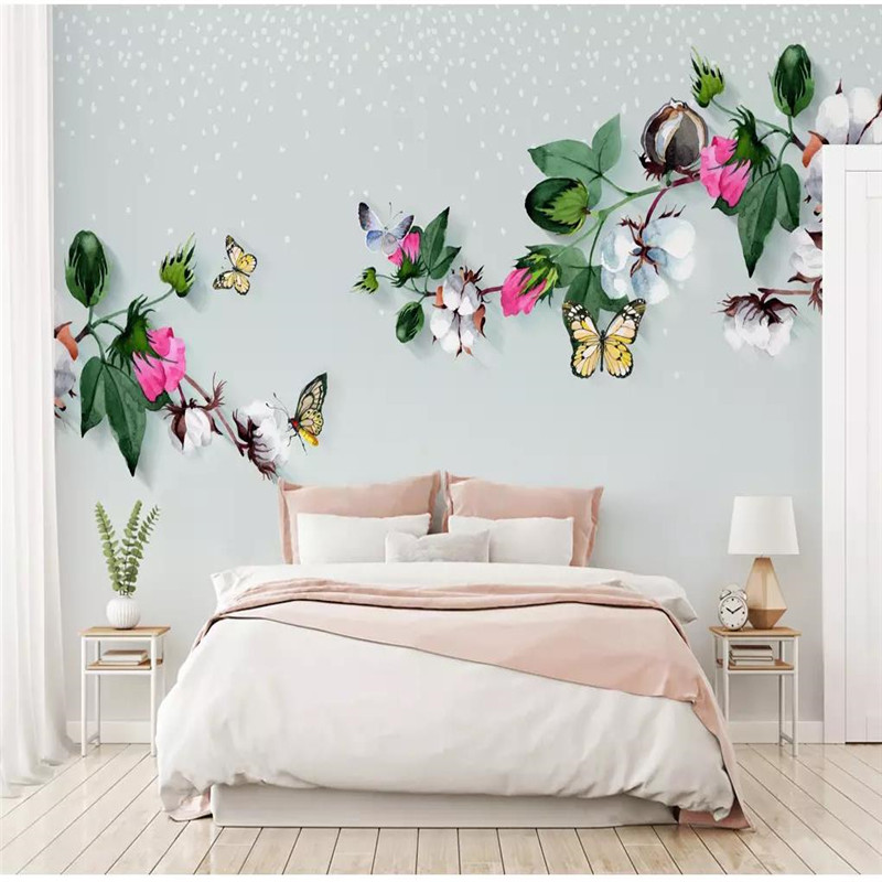 Custom 3D mural modern minimalist literary fashion background wall decoration painting wallpaper mural photo wallpaper in Wallpapers from Home Improvement