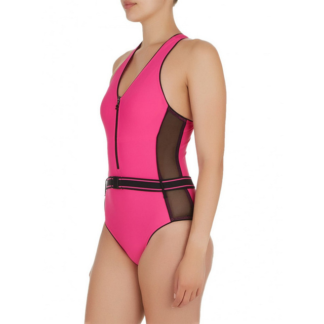 1a706881c4c28 Winmax Top selling high quality black/fuchsia sporty one piece style lady  swimwear,tummy and slimming women swimsuit