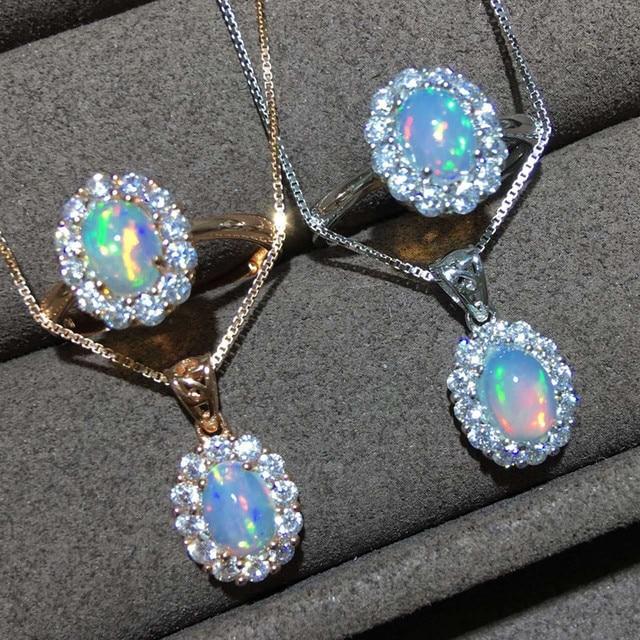 5x7mm opal pendant jewelry 925 sterling silver fire opal necklaces 5x7mm opal pendant jewelry 925 sterling silver fire opal necklacesrings for women natural opal aloadofball Choice Image