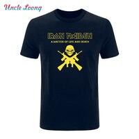 Summer Fashion Iron Maiden T Shirt Short Sleeve Band T Shirt Rock Heavy Metal Music Tee