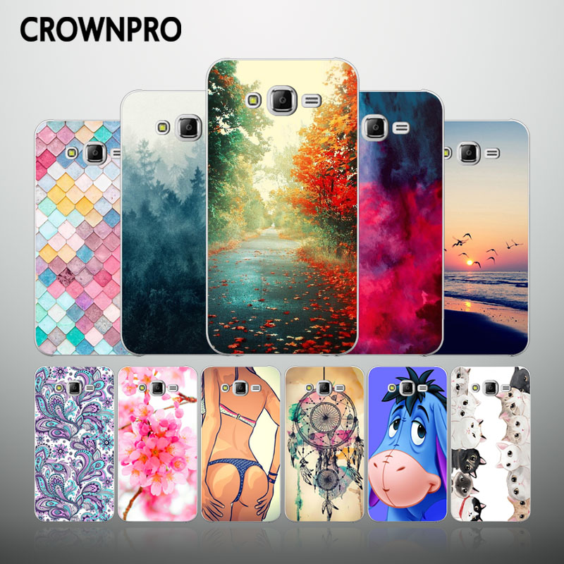 CROWNPRO Soft Cases FOR Samsung J5 2015 Silicone Case Cute TPU Back Cover FOR Samsung Galaxy J5